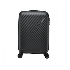 美旅拉杆箱 20英寸时尚登机箱 商务男女行李箱超轻万向轮旅行箱密码锁AX9黑色