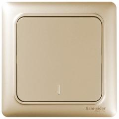 施耐德电气(Schneider Electric)开关插座 开关面板 一开单控开关 睿意系列 金色A3E31_1A_WG
