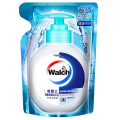 威露士(Walch)健康抑菌消毒99.9%洗手液(健康呵护)袋装 525ml