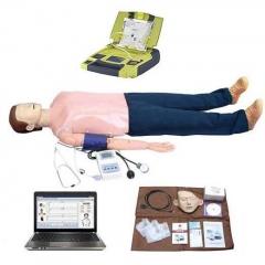 电脑多功能急救训练模拟人 心肺复苏 血压测量 AED除颤仪货号100.X90