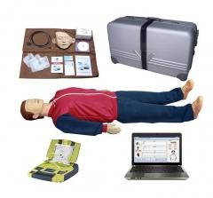 BOU/BLS880高级电脑心肺复苏模拟人与AED自动体外除颤仪货号100.X96