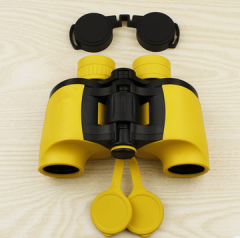 2015新款7x35高清高质量袖珍双筒望远镜 高端正品出售 双色可选  货号100.L57 颜色  7x35黄色