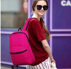 户外双肩包女休闲旅游旅行背包男运动包超轻韩版中学生书包背包 货号100.C40 黄色