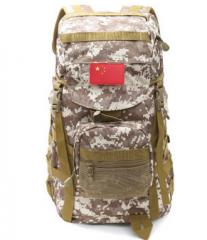 户外登山包背包女迷彩双肩包男多功能战术旅行包 货号100.C47 黑色