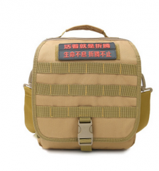 特价新款军迷帆布户外单肩包战术包运动包男女迷彩单肩斜挎手提包 货号100.C49 黑色