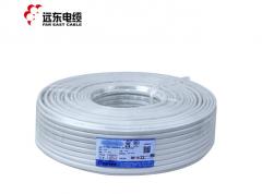 远东电线电缆RVV2*1平方国标电源信号传输用2芯铜芯软护套线 白色 100米 货号100.S291