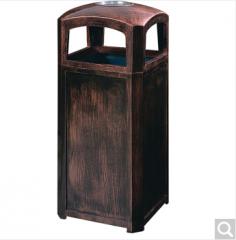 顺南纤维钢垃圾桶户外玻璃钢果皮箱室外单桶垃圾筒紫铜色A-125 A-125  货号100.ZD254