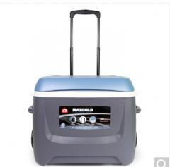 IGLOO易酷乐47L拉杆保温箱冷藏箱车载户外便携冰箱保鲜箱进口 浅碳灰蓝/无配件 货号100.ZD378
