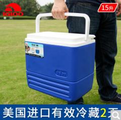 IGLOO易酷乐15L保温箱车载家用外卖冷藏箱户外钓鱼便携冰箱保鲜箱 16L红色 15L蓝色 货号100.ZD406 15L蓝色