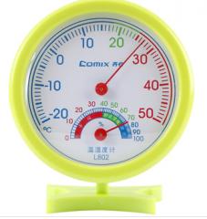 齐心 轻巧型指针式温湿度计  L802     货号100.L323