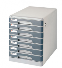 齐心 金属文件柜 七层带锁B2202  货号100.L338