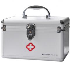 金隆兴(Glosen)  铝合金急救箱 9英寸家庭双层医药箱收纳盒   B016-5  货号100.L349