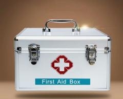 金隆兴(Glosen) 铝合金急救箱 12英寸家庭双层医药箱收纳盒  B016-1    货号100.L350