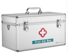 金隆兴(Glosen) 铝合金急救箱 16英寸家庭双层医药箱收纳盒  B016-3   货号100.L352