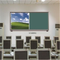 科达KDZT301-2L 推拉式复合黑板4000mm*1350mm (电子白板偏装) 可定制 (不含电子白板需选配) 货号100.B3