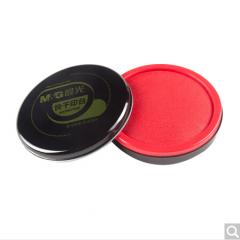 晨光(M&G)AYZ97520财务专用圆形金属快干印台印泥105mm红色   货号100.ZD540