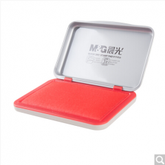 晨光(M&G)AYZ97516财务专用方形金属秒干印台印泥105*70mm红色  货号100.ZD541