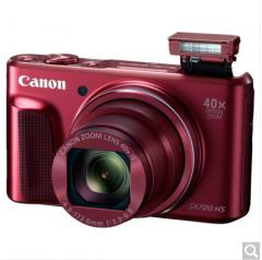 佳能(Canon)PowerShot SX720 HS 数码相机(2030万像素 40倍光变 24mm超广角)红色   银色 货号100.ZD545 红色