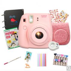 富士(FUJIFILM)拍立得mini8相机奢华套餐(粉色)(含20张相纸)   货号100.ZD546 哆啦A梦