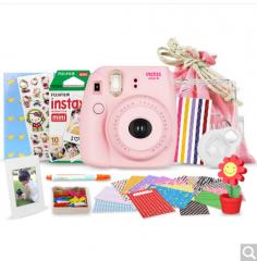 富士(FUJIFILM)INSTAX 一次成像相机 MINI8相机 粉 超值套餐(10张胶片)  货号100.ZD548 闺蜜粉