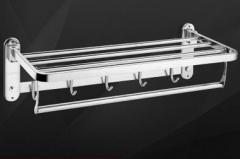 九牧60cm太空铬活动浴巾架 货号100.X522