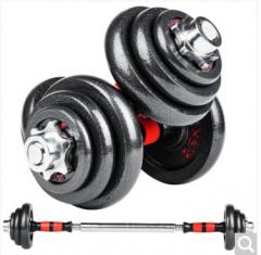 双牌 哑铃 可自由拆装组合20公斤 健身烤漆哑铃20KG(两只装) 货号100.ZD557
