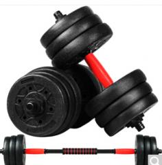 双牌 环保哑铃可自由组合拆卸 男士家用健身器材 环保哑铃20kg一对  货号100.ZD567 环保哑铃20kg