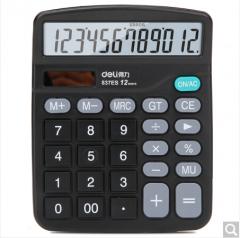 得力(deli) 837ES 桌面通用办公计算器 12位大屏幕 双电源   货号100.ZD588