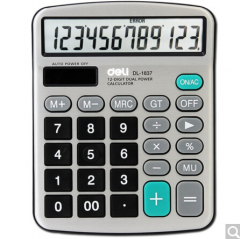 得力(deli)1837 金属面板桌上型计算器 152.8*120*29mm  货号100.ZD589