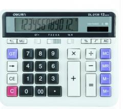 得力(deli) 2135 太阳能双电源电脑按键桌面计算器 12位数  货号100.ZD590