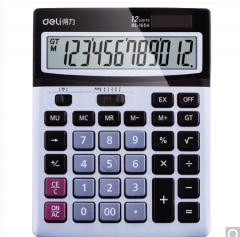 得力(deli)1654 双电源大屏幕计算器 灰色  货号100.ZD593