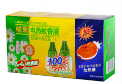 榄菊 野菊花电热蚊香液2瓶100晚+加热器 驱蚊液 电蚊香 电蚊液 货号100.C597