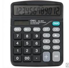 得力(deli)837 轻便双电源通用型桌面计算器  货号100.ZD594