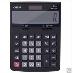 得力(deli)1520A 经典商务办公桌面太阳能双电源计算器 记忆存储功能  货号100.ZD596