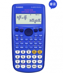 卡西欧(CASIO) FX-82ES PLUS A 函数科学计算器 慧白  82基础款 货号100.ZD597 蓝色 82基础版