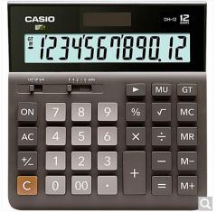 卡西欧(CASIO)DH-12-BK 中型 12位 双电源 超宽计算器 黑色 专业计算系列  货号100.ZD599 黑色 12位中型超宽版