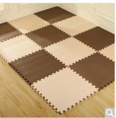 富居(FOOJO)泡沫拼块地毯客厅卧室满铺拼图游戏地垫30*30*1.2cm(粉米9片装)  货号100.ZD604 咖米30cm-9片装