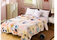 雅鹿自由自在 毛毯家纺 加厚法兰绒毯子 午睡空调毯毛巾被盖毯 2*2.3米 约2.8斤 卡通乐园  货号100.ZD616