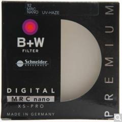 B+W uv镜 滤镜 82mm UV镜 XS-PRO 超薄多层纳米镀膜UV镜 保护镜  货号100.X593