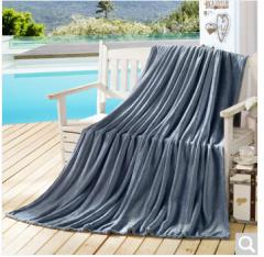 迎馨 毛毯家纺 四季毯子可做盖毯床单午休被素色珊瑚绒毛毯 150*200cm 银灰色  货号100.ZD623