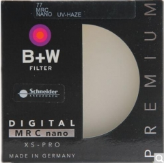 B+W uv镜 滤镜 77mm UV镜 XS-PRO 超薄多层纳米镀膜UV镜 保护镜  货号100.X594