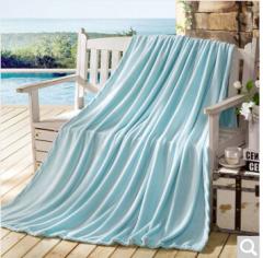 迎馨 毛毯家纺 四季毯子可做盖毯床单午休被素色珊瑚绒毛毯 150*200cm 薄荷绿   货号100.ZD624
