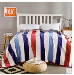迎馨 床品家纺 印花加厚冰貂绒珊瑚绒毯子盖毯床单午休被法莱绒毛毯 流光溢彩  货号100.ZD626