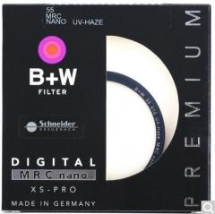 B+W uv镜 滤镜 55mm UV镜 XS-PRO 超薄多层纳米镀膜UV镜 保护镜   货号100.X600