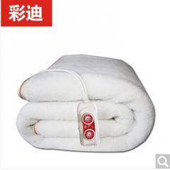 彩迪电热毯羊羔绒双人双控电褥子 羊羔绒电热毯长1.8米X1.5米   货号100.ZD634