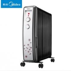 美的(Midea)NY20FD-10 10片宽片电热油汀取暖器/电暖器/电暖气/油汀  货号100.X657