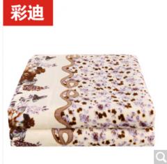 彩迪电热毯单人学生宿舍电褥子 春意盎然 法兰绒电热毯长1.5米x宽0.8米 货号100.ZD645