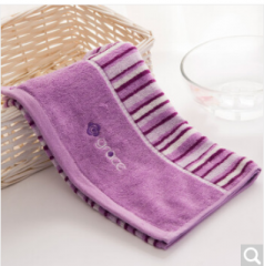 洁丽雅(Grace)毛巾家纺 纯棉钢琴键柔软舒适加厚洗脸面巾 紫色 110g 70*34cm  货号100.ZD693
