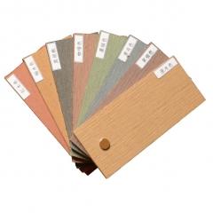 军森木塑地板方孔125*23一面平可压纹一面窄沟槽       货号100.H93 青灰色