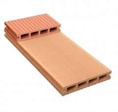 军森木塑地板方孔140*25.5一面宽沟槽一面窄沟槽  货号100.H98 青灰色